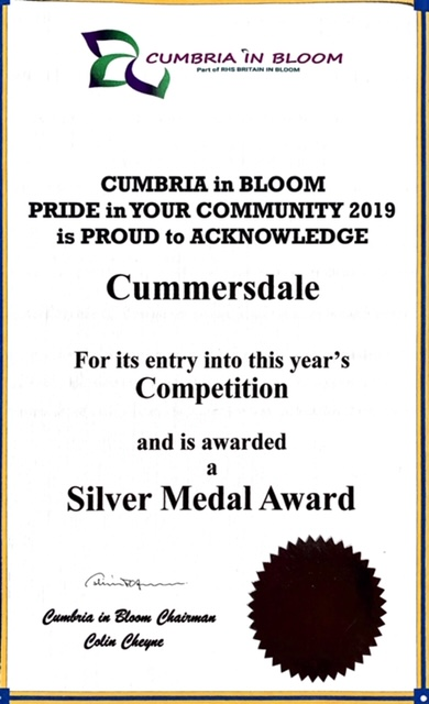 Cumbria in Bloom Certificate