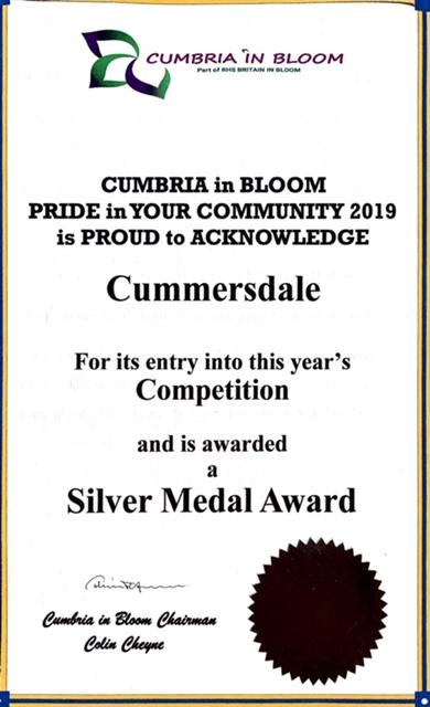 Cumbria in Bloom Certificate